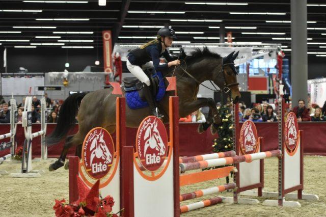 Elisa Reichl und Pilotina 2 wurden Dritte im Amadeus Mini Children Grand Prix der Amadeus Horse Indoors 2017. © Fotoagentur Dill