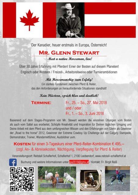 Erzähl uns in den Comments oder via E-Mail an media@eqwo.net, warum du an der Glenn Stewart Clinic teilnehmen möchtest!