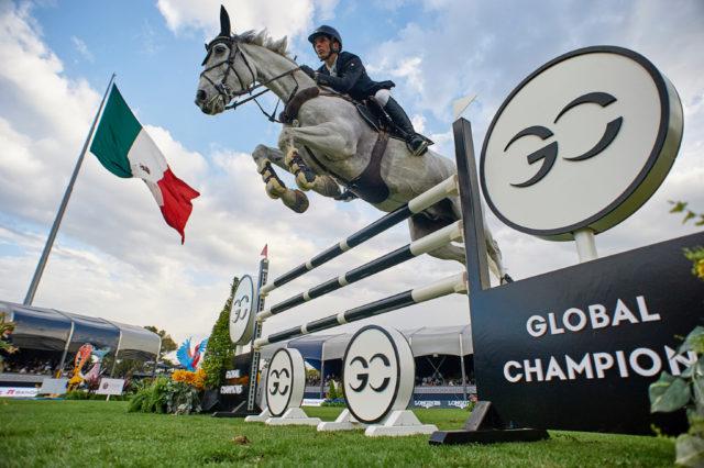 Der erste Sieger der LGCT Mexico: Eduardo Alvarez Aznar auf Fidux. © Manuel Queimadelos / Oxer Sport
