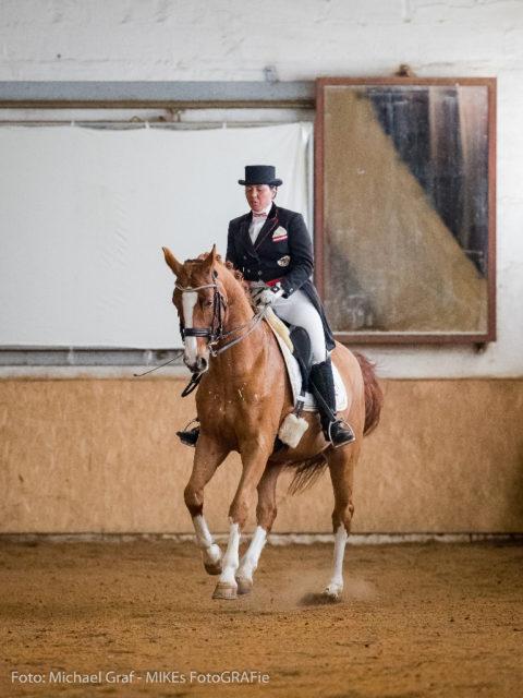 Tamara Brandner vom Reitclub Kottingbrunn platzierte sich mit My Sunshine im Prix St.Georg auf Rang drei. © Michael Graf