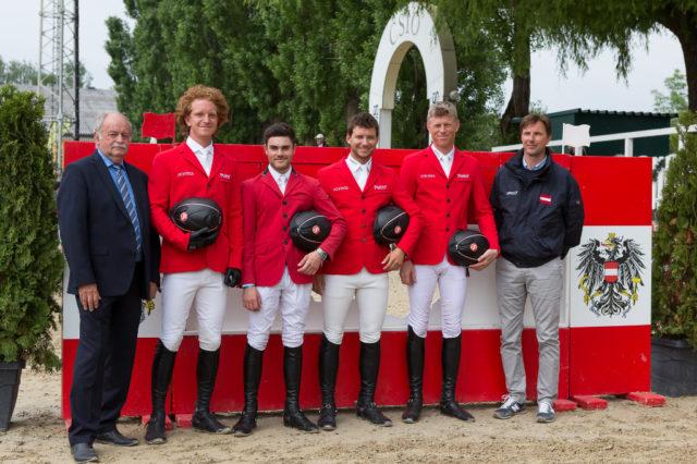 Platz sechs für Österreich beim FEI Nations Cup in Linz. © Team Myrtill/Linzer Pferdefestival