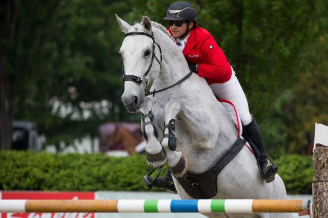 Willi Fischer und Colmar können mit ihrem Nationenpreisdebut für Österreich durchaus zufrieden sein. © Team Myrtill/Linzer Pferdefestival