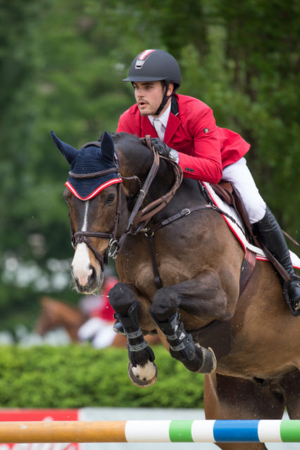 Traumstart für Felix Koller und Captain Future bei der EM der Young Rider in Fontainebleau. Archivbild CSIO Linz © Team Myrtill
