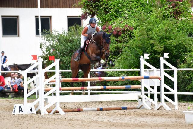 Julia Hinterhofer und Comme Kanna platzierten sich fehlerfrei auf Rang zwei. © NOESP / horsic.com