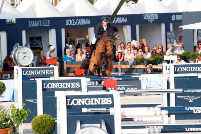 Ben Maher rockt die französische Riviera mit dem 9 Jahre alten Winning Good. © LGC / Stefano Grasso