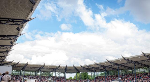 Das Deutsche Bank Stadion in Aachen ist die Kulisse für die CDIOU25 beim CHIO Aachen 2018. © Arnd Bronkhorst/ CHIO Aachen