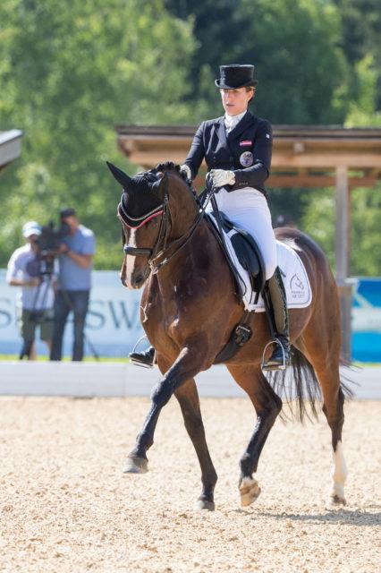 73,03% und damit der hervorragende sechste Platz für Astrid Neumayer (AUT) und DSP Rodriguez in der Grand prix Kür beim CDI4* am Schindlhof. © Michael Rzepa