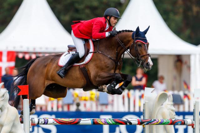 Super Leistung von Felix Koller und Captain Future bei der Young Rider EM in Fontainebleau. © Tomas Holcbecher