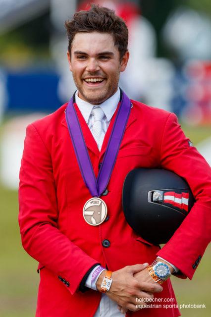 Felix Koller holt Bronze für Österreich bei der Young Rider EM in Fontainebleau. © Tomas Holcbecher