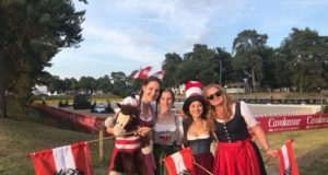 Österreichs vierköpfiges Mädels-Juniorenteam Victoria Wurzinger (NÖ), Chiara Pengg (K), Helene Grabenwöger (NÖ) und Valentina Strobl (T). © privat