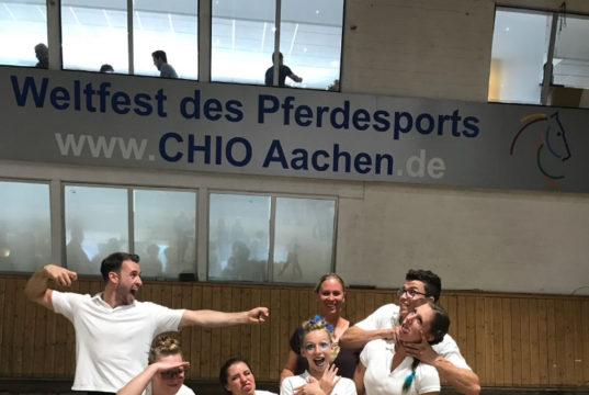Fixkraft-Voltigierer Stefan Csandl holte mit seiner Gruppe vom UVT Eligius zwei tolle dritte Plätze in Aachen. © privat