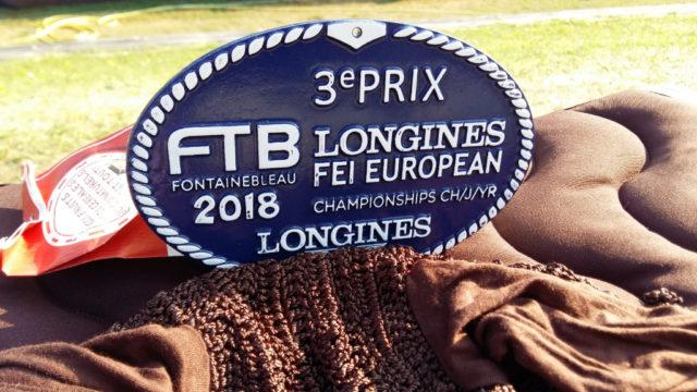 Die begehrten Platzierungsplaketten der EM in Fontainebleau. © privat
