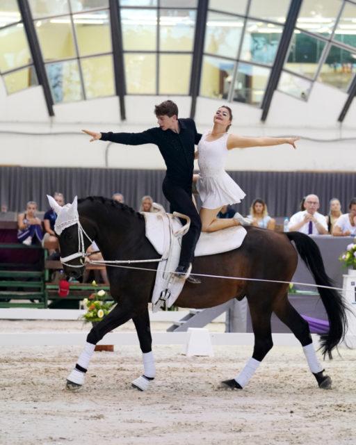 Lena Kung & Fabian Lipp wurden 24 h vor der EM nachnominiert und turnten bei ihrem Debüt auf Platz 5. © Andrea Fuchshumer