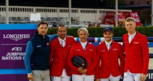 Team Austria holt sensationell Platz 1 in Runde 01 vom Nations Cup Finale in Barcelona. © OEPS/Tomas Holcbecher