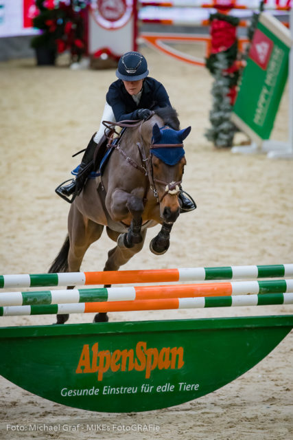 Der Sieg in der Happy Horse Small Amateur Tour ging an Berenice Laurent (FRAU) auf Zimza la Bim. © Michael Graf