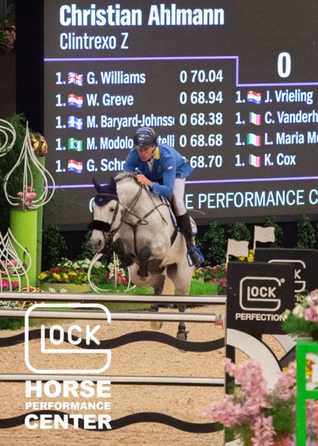 Alles riskiert und gewonnen! Christian Ahlmann (GER) und Clintrexo Z sind die GLOCK's 5* Grand Prix-Sieger. © Nini Schäbel