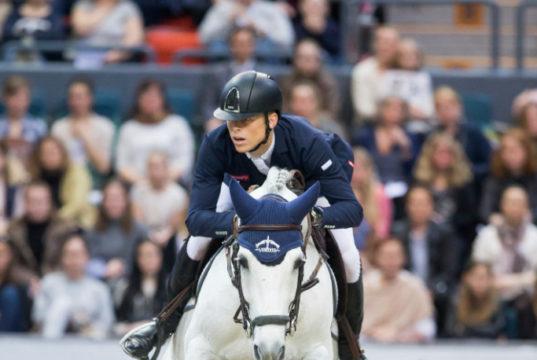 Max Kühner und Chardonnay sprangen beim Weltcupfinale 2016 in Göteborg auf Platz 14. © Tomas Holcbecher