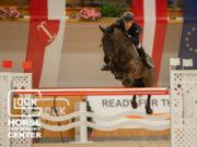 Österreichs Max Kühner blieb mit Cornet Kalua sowohl im Grundumlauf als auch im Stechen fehlerfrei und wurde als bester Österreicher in der CSI5* GLOCK's Perfection Tour hervorragender Vierter. © Nini Schäbel