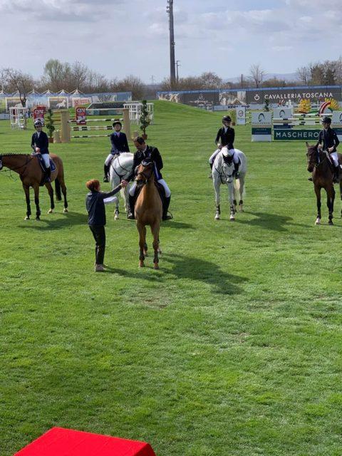 Siege und Platzierungen für Mevisto-Reiter Roland Englbrecht in Arezzo und Linz. © privat