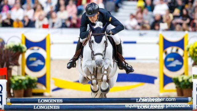 Super Max! Mit Chardonnay und Platz neun holte der Österreicher heute seine beste Platzierung in einem Weltcup Finale. © Österreichischer Pferdesportverband/Tomas Holcbecher