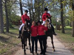 Das erfolgreiche Team aus Österreich (Lambach) bei der EEN students' competition in Strömsholm, Schweden mit ihren vom OEPS gesponserten Jacken.© abz Lambach