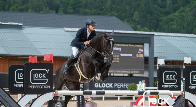Christian Rhomberg (V) und Budapest 5 holten einen tollen vierten Platz in 1,45 m hohen CSI5* GLOCK's Perfection Tour. © Nini Schäbel