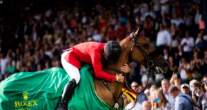 Kent Farrington (USA) holt den Sieg in dem mit 1 Million Euro dotierten ROLEX Grand Prix beim CHIO Aachen. © ROLEX