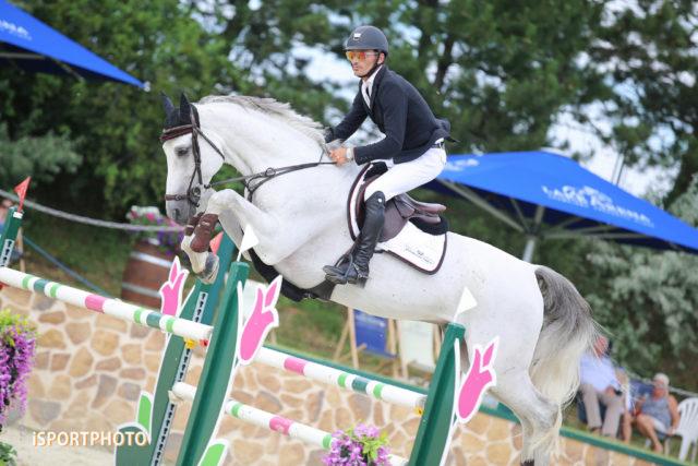 Stefan Eder und Dr. Scarpo wurden hervorragende Zweite im Championat der Lake Arena beim Equestrian Summer Circuit. © iSPORTPHOTO