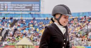 Stinna Tange Kaastrup (DEN) and Horsebo Smarties, Gewinnerin der der individuellen Para Dressur Grade II Freestyle Gold auf den FEI Weltreiterspielen™ 2018