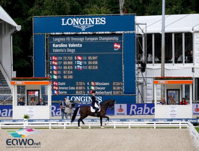 Große Arena, tolle Leistung: Karo Valenta (Österreich) mit ihrem Hannoveraner Wallach Valenta's Diego. © Petra Kerschbaum