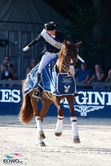 Isabell Werh kommt von diesen Europameisterschaften in Rotterdam 2019 mit drei Goldmedaillen (Team, Grand Pfrix Special, Grand Prix Freestyle) nach Hause! © Petra Kerschbaum