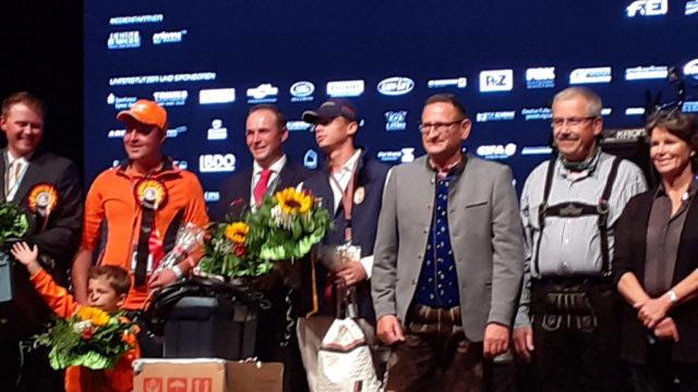 Ein toller Moment: Platz 2 im Marathon für Fixkraft-Fahrer Thomas Blumschein bei der Zweispänner WM in Drebkau. © privat