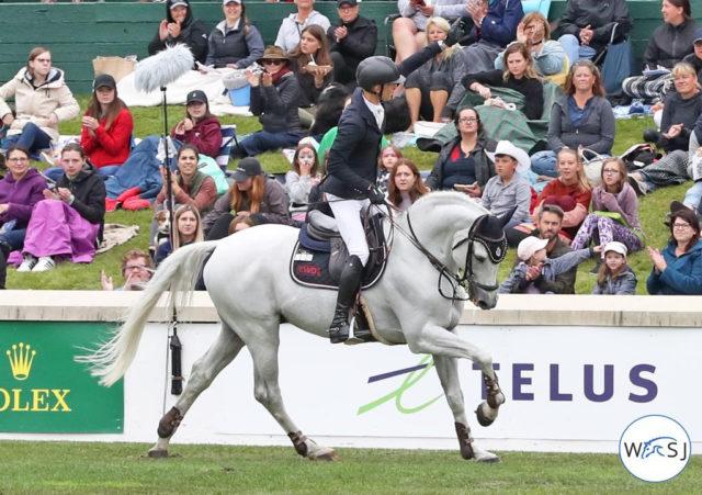 Bravo Max Kühner! Der Tiroler lieferte im Sattel seines Holsteiner Hengstes Chardonnay eine Top-Leistung ab. © World of Showjumping