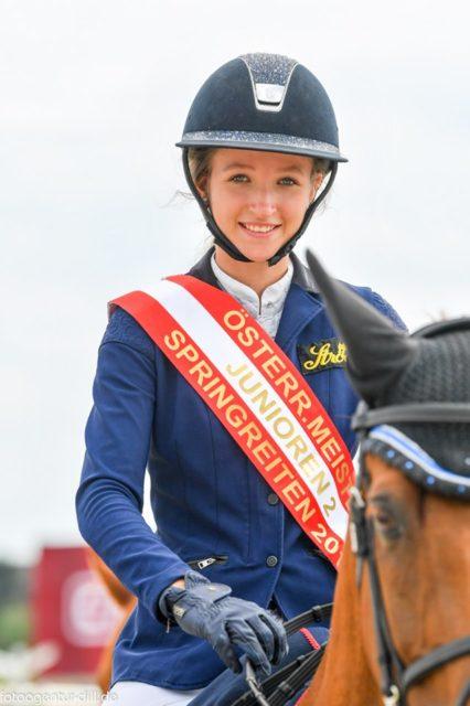 Die Österr. Meisterin Junioren II: Marie Christine Sebesta. © Fotoagentur Dill