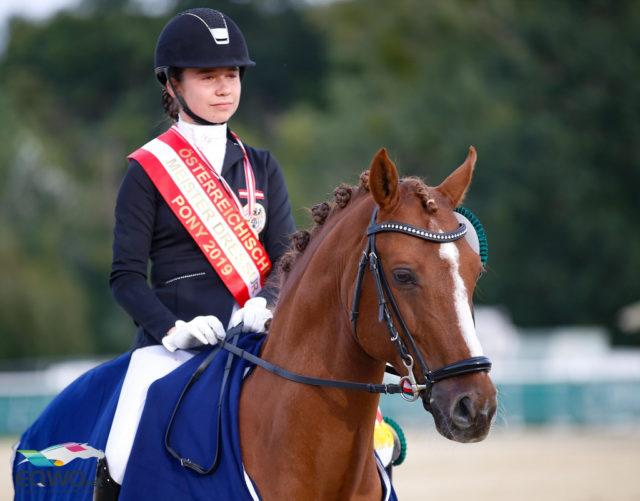 Österreichische Meisterin Pony & Vizemeisterin der Jugend: Felicita Simoncic ©Petra Kerschbaum