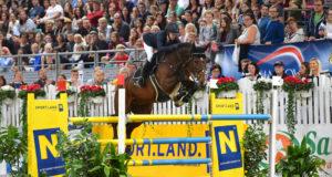 Die Sieger vom Großen Preis im Sportland Niederösterreich, Sabrina Berger (GER) und ihr Quidams Star Melloni, kommen auch heuer wieder in die Arena Nova. © HORSIC.com