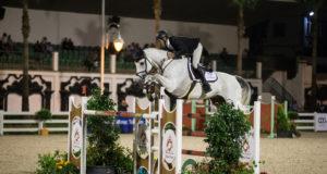 Stefan Eder und Dr. Scarpo siegten in der 4-Sterne-Prüfung (1,50 m) in Marokko. © R&B Presse, S.Rispail