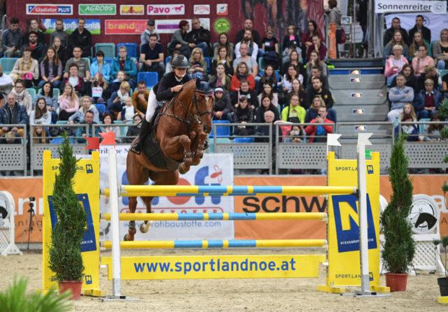 Platz 2 für Josefina Goess-Saurau und Cassijo im EY Cup in der Arena Nova. © HORSIC.com