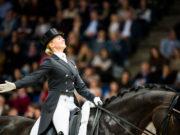 Riesenapplaus vom Stuttgarter Publikum: Jessica von Bredow-Werndl (GER) und TSF Dalera gewinnen die GP Kür des CDI4*-W © FEI/Lukasz Kowalski