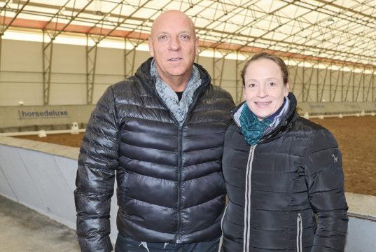Isabell Werth und Amadeus Horse Indoors Veranstalter Josef Göllner. © Salzburg-Cityguide