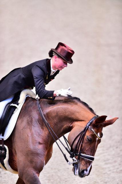 2015 wurde Victoria Max-Theurer mit Blind Date hervorragende Fünfte im Weltcup von Salzburg. © Daniel Kaiser