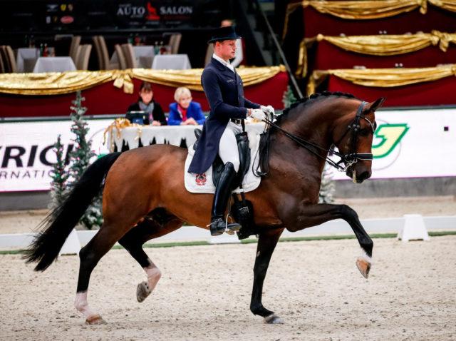 Schafhof`s Foundation platziert sich mit seinem Reiter Matthias Alexander Rath (GER) beim CDI4* Grand Prix auf Platz drei. ©EQWO.net