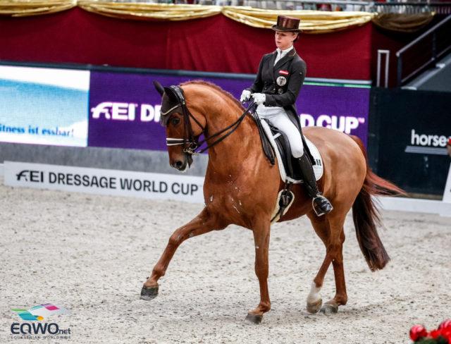 Beste Österreicherin im Weltcup Grand Prix war Victoria Max-Theurer (AUT/OÖ) auf Benaglio auf Rang vier.© EQWO.net