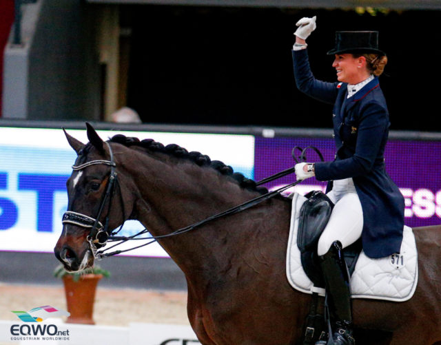 Persönliche Bestleistung für Morgan Barbacon (FRA) und Sir Donnerhall II OLD beim Weltcup Grand Prix im Rahmen der Amadeus Horse Indoors. © EQWO.net