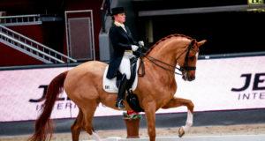 Isabell Werth gewinnt den Auftakt des CDI4* bei den Amadeus Horse Indoors 2019 im Sattel ihres Quintus. ©EQWO.net