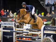 Olympic gold medallist, Steve Guerdat (SUI) who claimed victory in Basel (SUI) last month with his mount Victorio des Frotards jumps back to number one in the Longines World Rankings. (FEI/Richard Juilliart