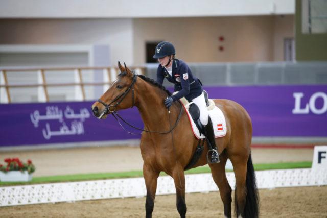 Drei zweite Plätze konnten sich Valentina Strobl und Bequia Simba im Grad V in Doha sichern. © Mario Grassia/CHI Al Shaqab