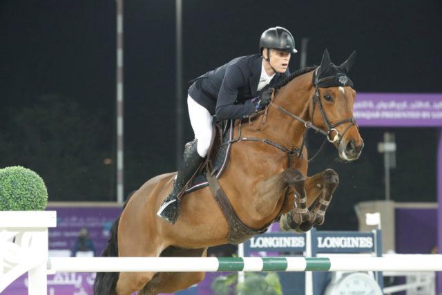 Max Kühner und Elektric Blue P auf dem Weg zu Ihrer bisher besten 5-Sterne-Grand Prix-Platzierung. © CHI Al Shaqab