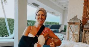 Die US-amerikanische Springreiterin Lauren Hough wurde mit dem Rad von einem Auto angefahren. Gott sei Dank erlitt sie keine lebensbedrohlichen Verletzungen, eine ausgekugelte Schulter, mehreren Prellungen und Wunden trug sie davon. Wir wünschen gute und baldige Besserung! © IG: lauren_hough
