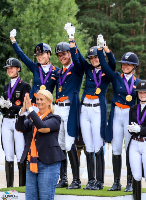 Winners! Die Niederländer konnten die beiden ersten Gold-Medaillen holen: Das niederländische U21- sowie das U25-Team ließen die Deutschen jeweils knapp hinter sich! © Petra Kerschbaum